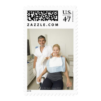 Dentist and patient, Portrait Postage
