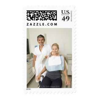 Dentist and patient, Portrait Stamps