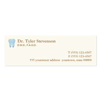 Dentist Appointment Card