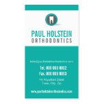 DENTIST APPOINTMENT CARD :: modern tooth logo 2