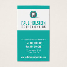 Dentist Appointment Card :: Modern Tooth Logo 2 at Zazzle