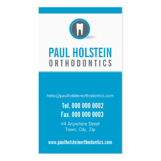DENTIST APPOINTMENT CARD :: modern tooth logo 7