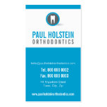 DENTIST APPOINTMENT CARD :: modern tooth logo 7 Double-Sided Standard Business Cards (Pack Of 100)