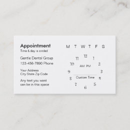 Office Staff Business Cards Templates Zazzle - Business card appointment template