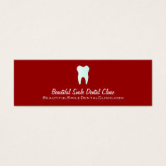 Dentist Appointment Cards- Color changeable Mini Business Card at Zazzle