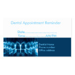 Dentist Appointment Reminder Double-Sided Standard Business Cards (Pack Of 100)