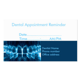 Dentist appointment reminder business card at zazzle for Dental gift certificate template