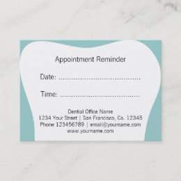 Dental business cards templates zazzle dentist appointment reminder cards dental office reheart Image collections
