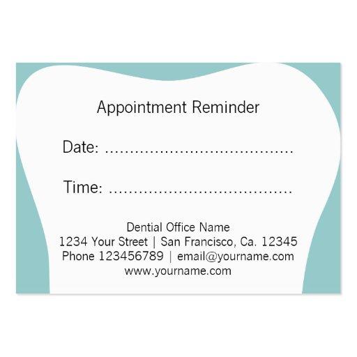 dentist appointment reminder cards dental office zazzle. Black Bedroom Furniture Sets. Home Design Ideas