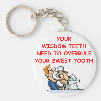 dentist basic round button keychain