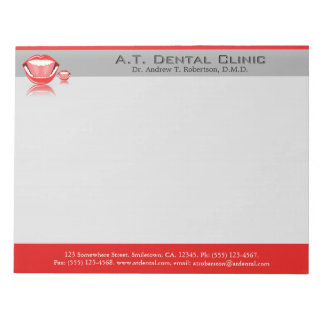 Dentist Big Mouth Large Dental Notepads Scratch Pads