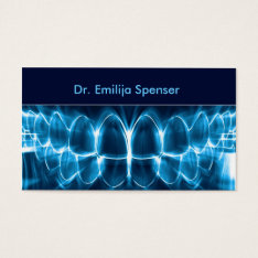 Dentist Blue Glowing Teeth Business Card at Zazzle