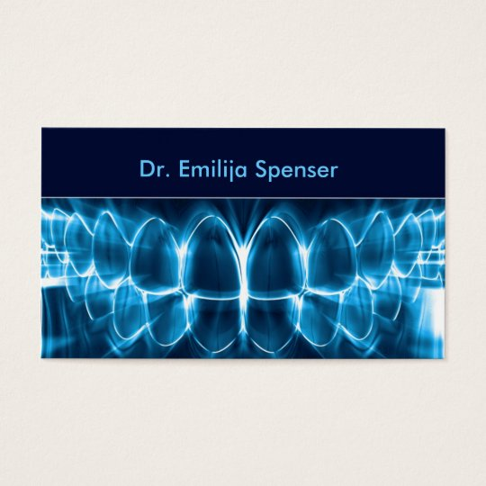 Dentist blue glowing teeth business card zazzle dentist blue glowing teeth business card reheart Image collections