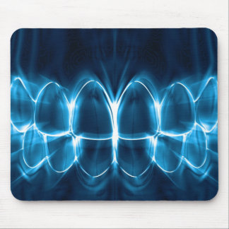 Dentist Blue Glowing Teeth Smile Mousepad