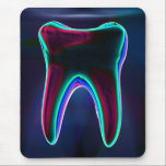 "Dentist Blue Glowing Tooth Mousepad<br><div class=""desc"">Dentist Blue Glowing Tooth Mouse Pad. Perfect for dentists,  dental assistants,  dental hygienists,  dental technicians,  and dental therapists. If someone that you know has dental practice,  any of these dental art images would be an ideal addition to their home or office.</div>"