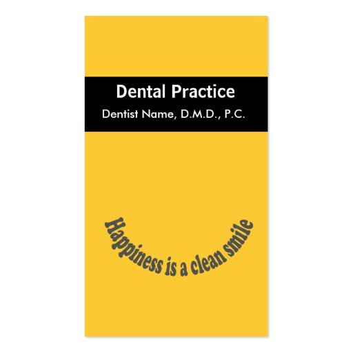 Dentist Business Card Templates