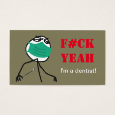 Dentist Business Card at Zazzle