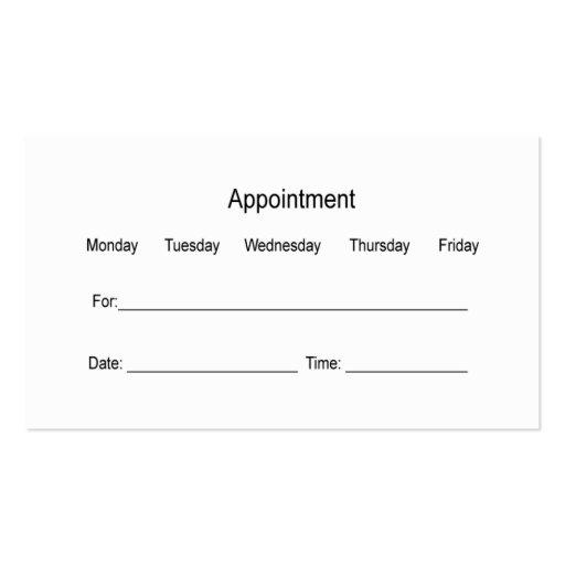 Dentist Business Cards (back side)