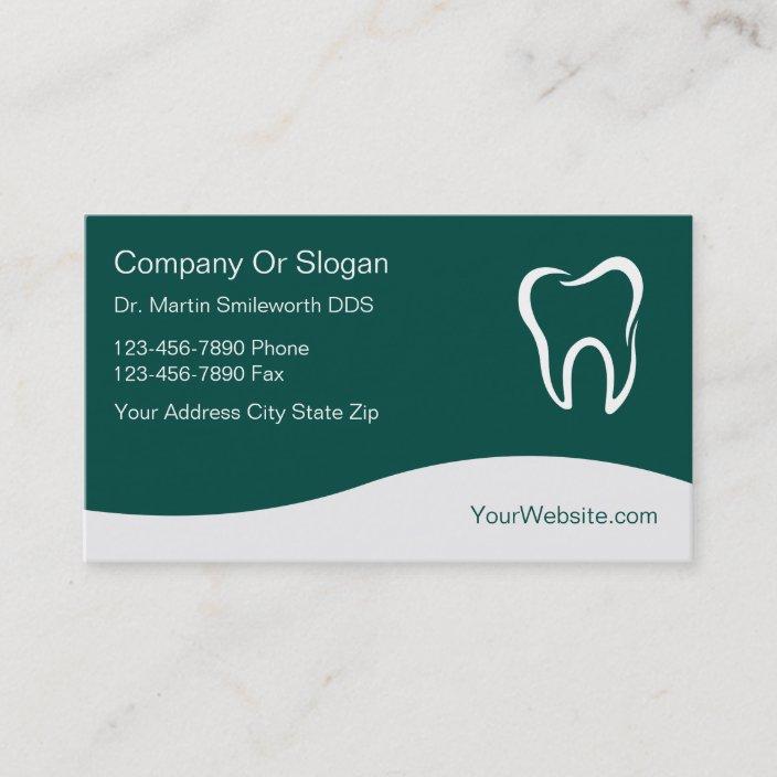 Dentist Business Cards Zazzle
