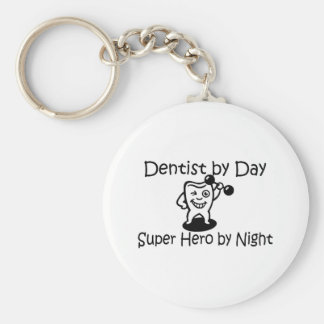 Dentist By Day Suup Hero By Night Keychain