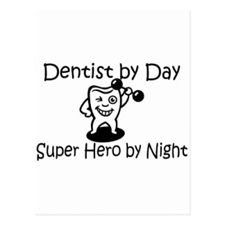 Dentist By Day Suup Hero By Night Postcard