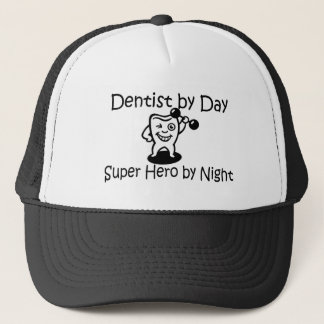 Dentist By Day Suup Hero By Night Trucker Hat