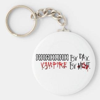 Dentist by day, Vampire by night Basic Round Button Keychain