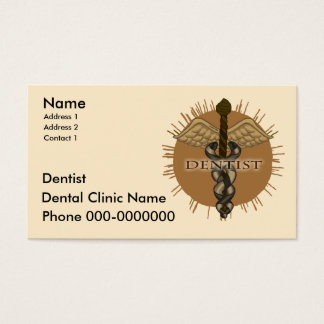 Dentist Caduceus Business Card