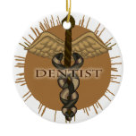 Dentist Caduceus Ceramic Ornament