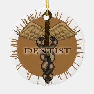 Dentist Caduceus Christmas Ornaments