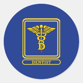 Dentist Caduceus Round Sticker