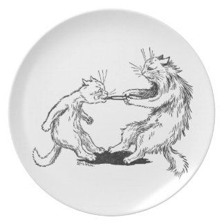 Dentist Cat Pulling Tooth Melamine Plate