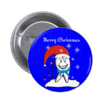 Dentist Christmas Cards and Gifts 2 Inch Round Button