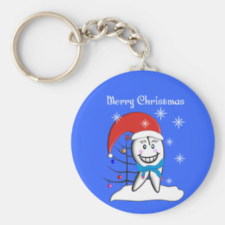 Dentist Christmas Cards and Gifts Keychain