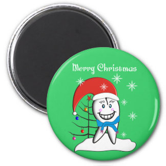Dentist Christmas Cards and Gifts Fridge Magnets