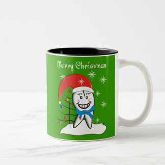 Dentist Christmas Cards and Gifts Two-Tone Coffee Mug