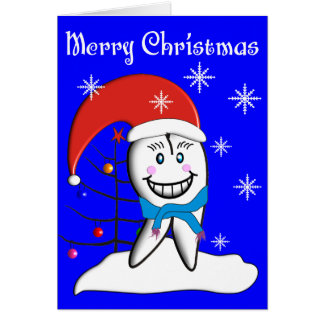 Dentist Christmas Toot CardsWith Tooth Decorations Greeting Card