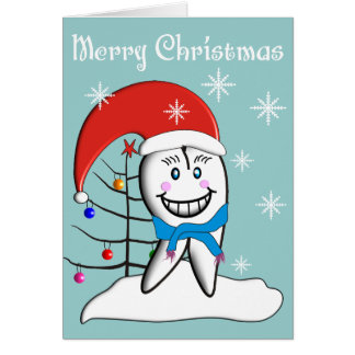 Dentist Christmas Toot CardsWith Tooth Decorations Cards