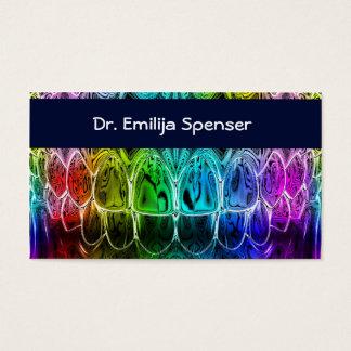 Dentist Colorul Teeth Business Card