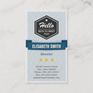 Pediatric dentist business cards zazzle dentist creative retro stylish business card reheart Choice Image