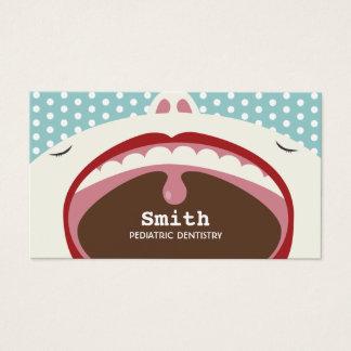 Dentist Cute Cartoon Kid Pediatric Dentistry Business Card