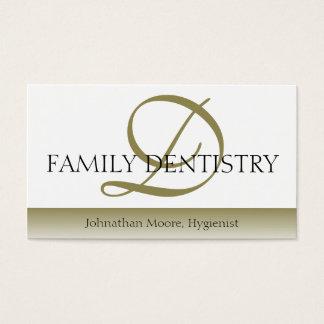 Dentist DDS Dental Office Oral Surgeon Script Business Card