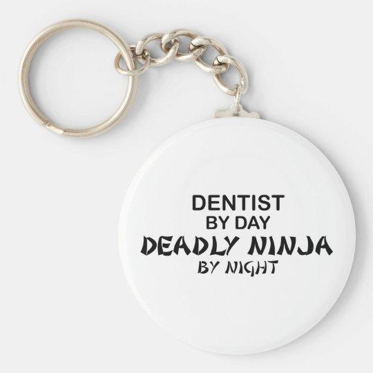 Dentist Deadly Ninja by Night Keychain