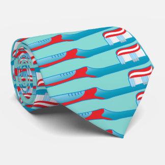 Dentist Dental Assistant Hygienist Toothbrush Neck Tie