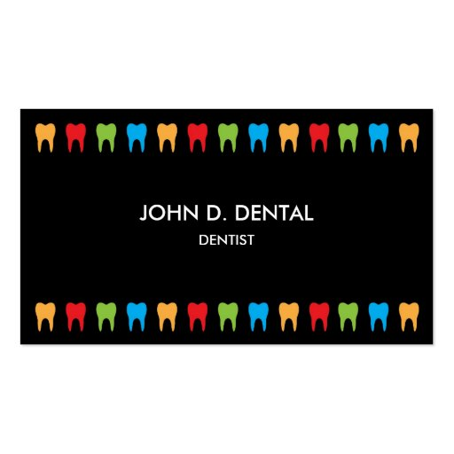 Dentist, dental business or profile card business card templates