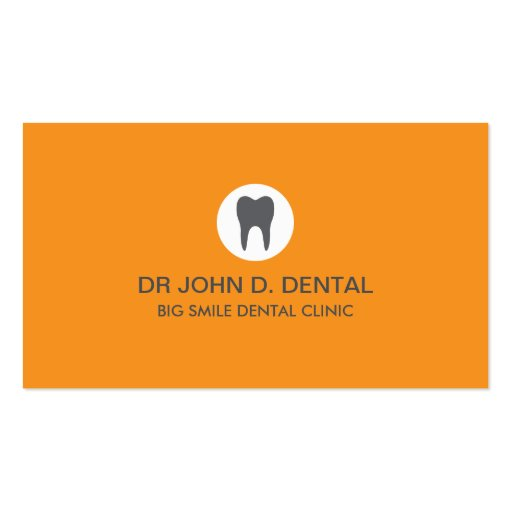 Dentist, dental gray business card with tooth logo