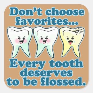 Dentist Dental Hygienist Dentistry Square Stickers