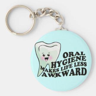 Dentist Dental Hygienist Humor Basic Round Button Keychain