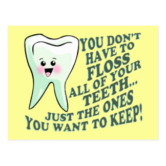 Dentist Dental Hygienist Humor Postcard
