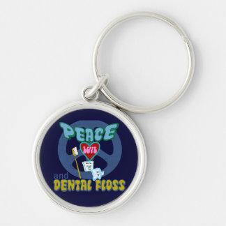 Dentist Dental Hygienist Silver-Colored Round Keychain